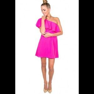 NWT Amanda uprichard off the shoulder pink dress